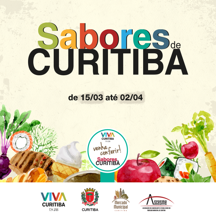 Sabores de Curitiba no Mercado Municipal | Projeto VIVA CURITIBA | Descontos especiais no Mercado Municipal | Mercado Municipal de Curitiba