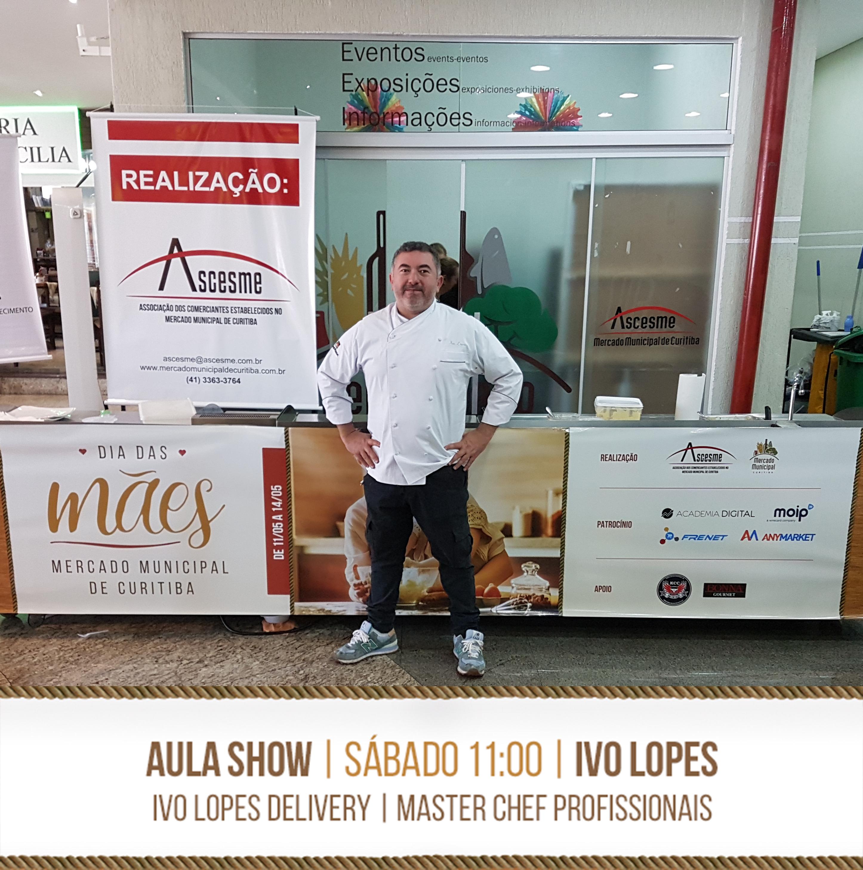 Aula-show com o chef Ivo Lopes | Dia das mães no Mercado Municipal de Curitiba