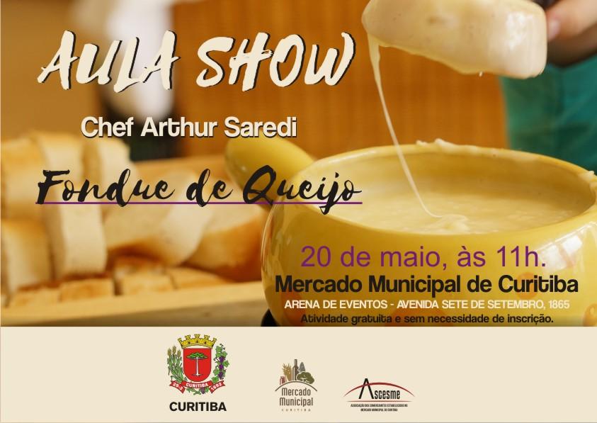 Aula-show com o chef Arthur Saredi no Mercado Municipal de Curitiba