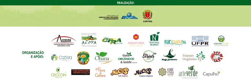 Realização, organização e apoio: Semana Nacional dos Orgânicos - Mercado Municipal de Curitiba