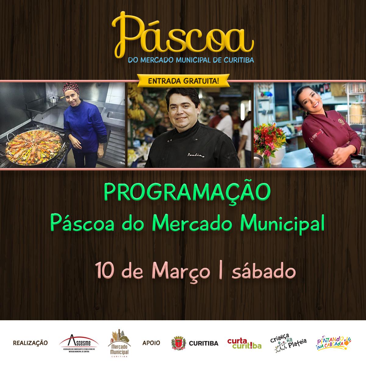 Confira programação deste sábado da Páscoa no Mercado Municipal de Curitiba Páscoa 2018 do Mercado Municipal - Oficinas para adultos e crianças